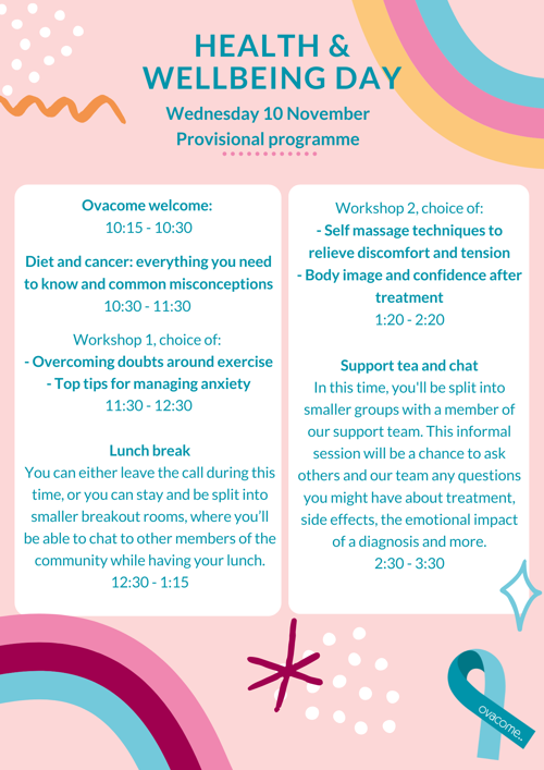 Health and wellbeing day programme