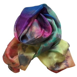 Handmade long silk scarf in a beautiful array of colours