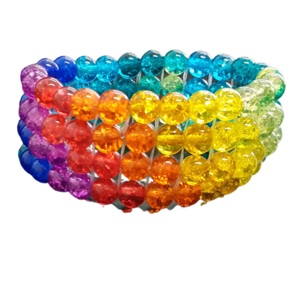Handmade chunky beaded cuff bracelet in an array of colours