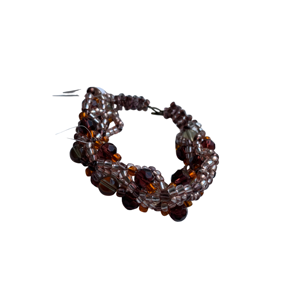 Brown and amber cuff bracelet